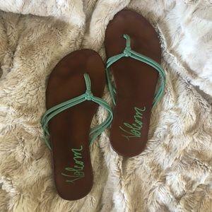 5 for $25 Volcom flip flops